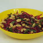 Pear beetroot and carrot salad